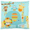 {BLUE ZOO ANIMALS} Cushion Cover ~ 43x43cm ~ Ready to post