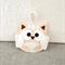 Lavender owl, sachet, felt, peach, cream, ribbon
