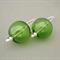 Reserved Listing for Danielle - Green Handblown Glass Bubble Earrings