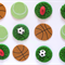 12 x Edible Sports Cupcake Decorations Footy, Basketball, Tennis, Soccer