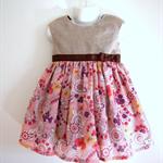 Size2 Paisley Ribbon Dress- pink