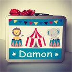 Personalised Storage Carry Cases - Kids Gifts - Circus Fun