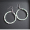 40mm Mottled Green & White Hoop Earrings