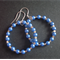 40mm Iridescent Blue & Silver Hoop Earrings