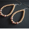 Faux Pearl Tear-drop Hoop Earring Set
