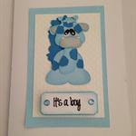 Baby Boy Gift Card - Baby Giraffe