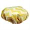 Lemon Chevron Shower Cap Soft Laminated Cotton great for sensitive skin
