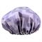 Lilac Chevron Shower Cap Soft Laminated Cotton great for sensitive skin