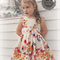 Butterfly Picnic Bow Peep Dress