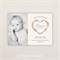 Girls Photo Birth Announcement. I Customise, You Print. Floral heart wreath.