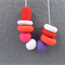 SALE: Funky Polymer Clay Necklace