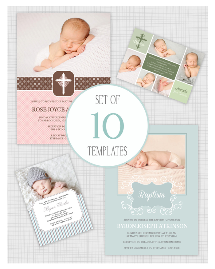 Baptism Invitation Template | 10 Psd Baptism And Christening Invitation Templates Mixed Designs