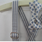 Boys bow tie and suspender set - braces, formal, party, spots, stripes, grey