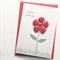 birthday card for her red fabric flower handmade