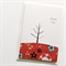 thank you card birds & tree oriental red