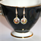 Austrian Swarovski Aurora Borealis spinning crystal Gold pave drop earrings