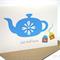 Get Well Soon Card - Blue Teapot with Tea Bags - GWS008