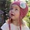 crochet earflap beanie | toddler girl | rose pink wool bamboo | 1 - 3 yrs