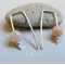 Argentium Sterling Silver range - semi precious moonstone bead earrings