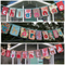 """8-letter-name"" bunting banner flag decorations"