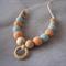 Organic Wood Bead Necklace / Pastels / Breastfeeding & Nursing Mums