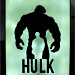 THE INCREDIBLE HULK led night light lamp candle art wax painting