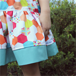 twirly skirt | bright hexi print | size 2