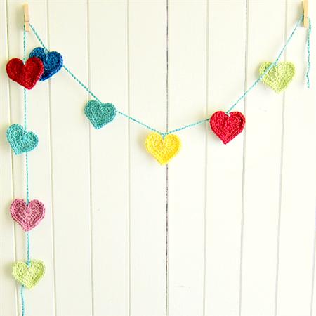 rainbow love | crochet heart garland | nursery room decor