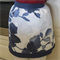 Half Apron Country Blue - womens retro lined kitchen apron - blue leaf print