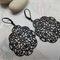 Black Gothic Filigree Earrings