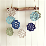 audrey | flower garland | crochet bunting room accessory | decoration