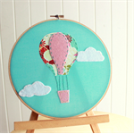 in the clouds | hoop textile accessory | baby nursery bedroom gift