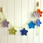 star garland | crochet room accessory | baby nursery gift