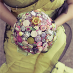 The Curious and Curiouser Button Bouquet.