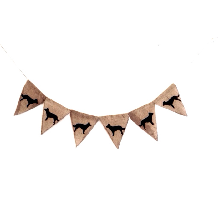 DOGS Puppy Decoration Party Hessian Burlap bunting banner ...