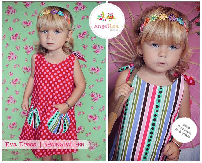 Girls Dress Pattern. PDF Sewing Pattern for Eva Dress, Reversible ...