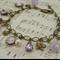 ~ LILAC BELLE ~ vintage pale purple lilac alexandrite flower charm bracelet