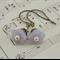 ~ LILAC BELLE ~ vintage pale purple lilac alexandrite flower earrings, romantic