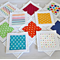 Fabric and Felt Matching Game, Memory, Snap.Set of 10 pairs. Spots/Stripes/Stars