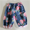 Girl Harem Pants - Tilda Flowerpatch in Blue