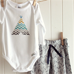 tribal outfit   pants onesie    00 3 - 6 months   teepee