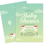 Printable Baby Shower Invitation - Up in the Clouds