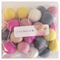 Felt Ball Garland in Light Pink, Pink, Yellow, Grey, White, Sand