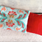 Lavender Heat Bag: Abstract Mint & Red Floral with Red Scribble