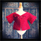 minicouture red crochet jacket