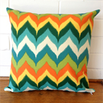 Outdoor Cushion Cover - Desert Oasis multi-colour chevron