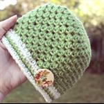 baby girl beanie   alpaca wool crochet hat   green   size 4-12 months