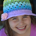 Crochet Rainbow Hat for kids