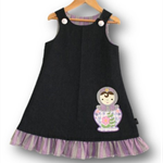 SIZE 4 Denim Embroidered Pinafore - Babushka