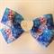 Frozen Elsa Handmade Hairbow Clip with Heart